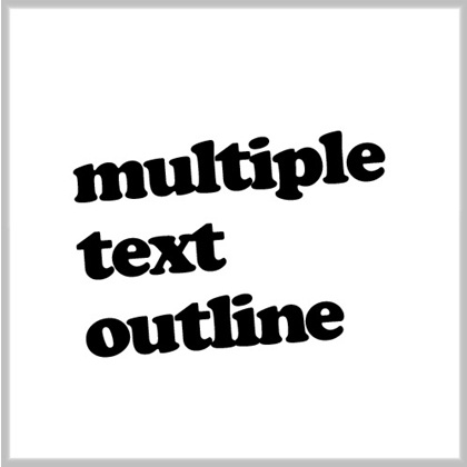 Use of Multiple text outline Technique in Photoshop